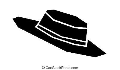 wektor, kapelusz, ilustracja