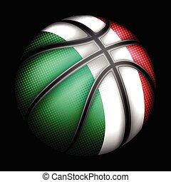 wektor, koszykówka, włoski