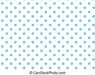 wektor, kropkuje, biały, błękitny, eps8, polka