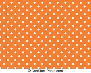 wektor, kropkuje, eps, 8, pomarańcza, polka