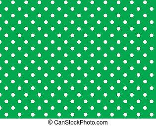 wektor, kropkuje, eps, zielony, 8, polka