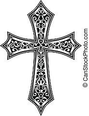 wektor, krzyż