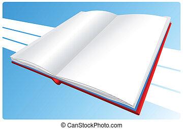 wektor, książka, ilustracja