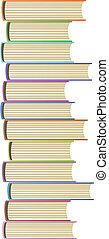 wektor, książki, ilustracja
