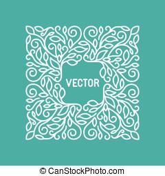 wektor, kwiatowy, ułożyć, z, kopiować przestrzeń