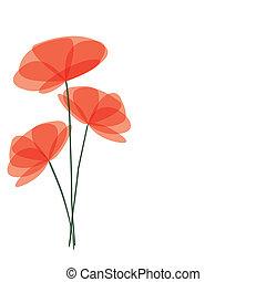wektor, kwiaty, tło