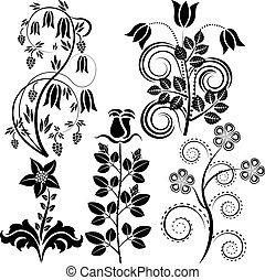 wektor, kwiaty