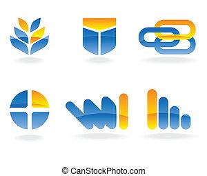 wektor, logo, elementy