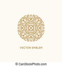 wektor, logo, projektować, szablon, i, monogram, pojęcie