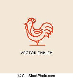 wektor, logo, zaprojektujcie szablony, w, linearny, styl