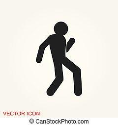 wektor, ludzie, taniec, taniec, ilustracja, tło, icon.