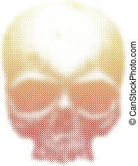 wektor, ludzka czaszka, illustration.