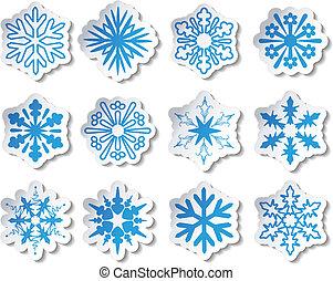 wektor, majchry, płatek śniegu