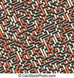 wektor, maze., ilustracja, labyrinth.