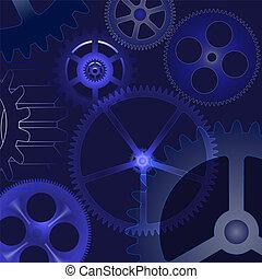 wektor, mechanizmy, tło