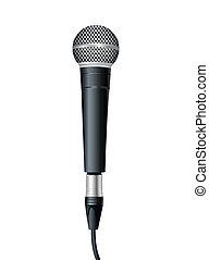 wektor, microphone., ilustracja