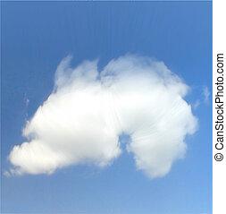 wektor, niebo, clouds.