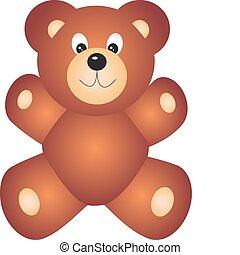 wektor, niedźwiedź