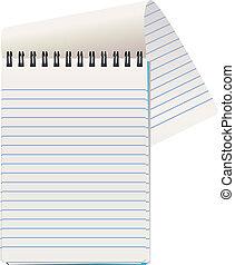wektor, notatnik, ilustracja
