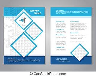 wektor, nowoczesny, broszura