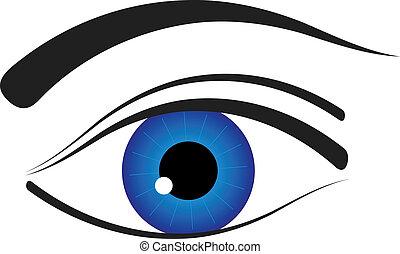 wektor, oko, ikona