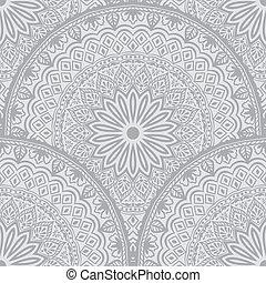 wektor, ornament., wschodni, próbka, etniczny, pattern., seamless, struktura, element, elegancki, arabski, arabeska, backgrounds., kwiatowy, style.