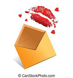 wektor, pojęcie, romansowa litera, valentine