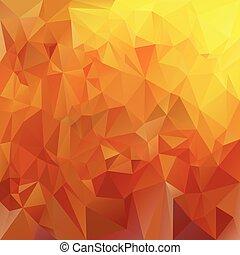 wektor, polygonal, tło, trójkątny, projektować, w, miód, kolor, -, żółty, i, brązowy