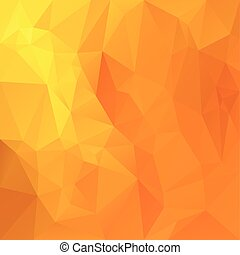 wektor, polygonal, tło, -, trójkątny, projektować, w, miód, kolor, -, pomarańcza, żółty