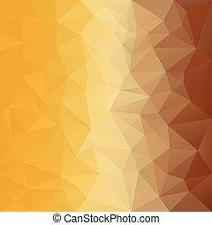 wektor, polygonal, tło, z, próbka, -, trójkątny, projektować, w, miód, kolor, -, żółty, brązowy