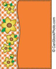 wektor, pomarańcza, kopiować przestrzeń