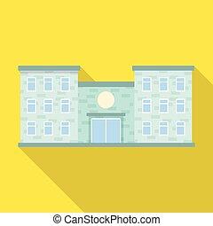 wektor, projektować, od, szpital, i, klinika, poznaczcie., komplet, od, szpital, i, ambulans, pień, symbol, dla, web.