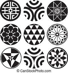 wektor, projektować, okrągły, grafika