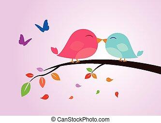 wektor, ptak, ilustracja