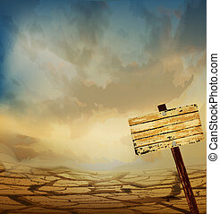 wektor, pustynia krajobraz