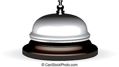 wektor, realistyczny, hotel, dzwon