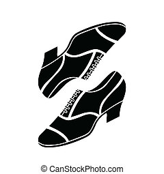 wektor, retro, ilustracja, obuwie