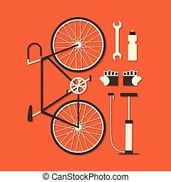 wektor, rower, ilustracja
