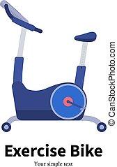 wektor, rower, stacjonarny, rysunek, ruch