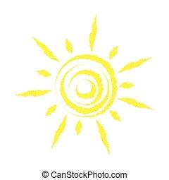 wektor, słońce