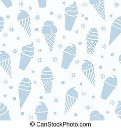 wektor, seamless, icecream, próbka