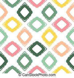wektor, seamless, pattern., grunge, hand-drawn, retro, texture.