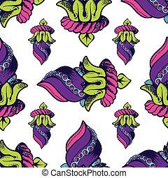 wektor, seamless, pattern., ręka, pociągnięty, struktura