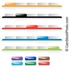 wektor, sieć, buttons., dodawanie, patki, text., aqua, umiejscawiać, redagować, komplet, odpoczynek, doskonały, size., 2.0, nawigacja, jakiś