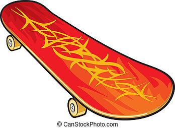 wektor, skateboard