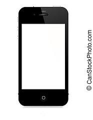 wektor, smartphone, -, 4s