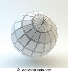 wektor, sphere., illustration., 3d
