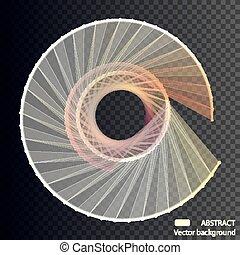 wektor, spheres., tło, handlowy, presentations., abstrakcyjny, przelotny, elegancki, oczko, debris., technologia, style., futurystyczny