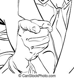 wektor, spoinowanie palec