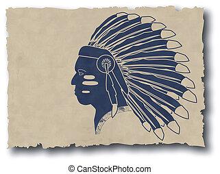 wektor, stary, plemienny, mayan, inca, papier